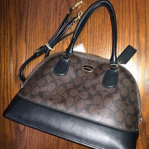 Coach Sierra satchel signature handbag brown/black